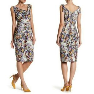 Black Halo Sullivan Floral Sheath Dress